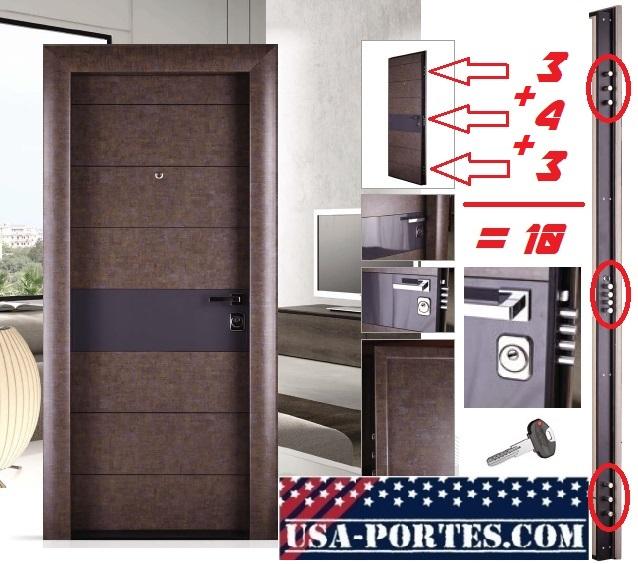 Porte New York Pas Cher D Entree Blindee D Appartement Immeuble Bureau En Metal